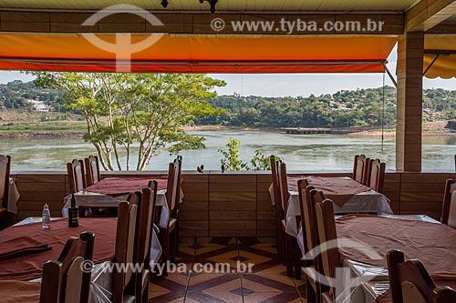 Vista do Rio Paraná a partir do Restaurante Dourado  - Foz do Iguaçu - Paraná (PR) - Brasil