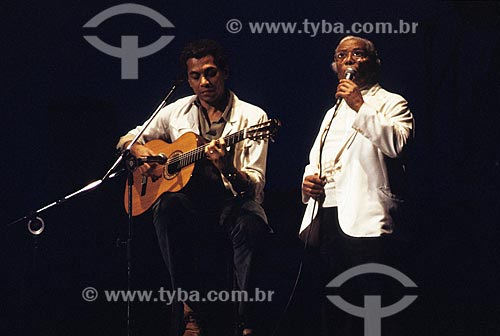 Paulinho da Viola e Nelson Cavaquinho - década de 80  - Rio de Janeiro - Rio de Janeiro (RJ) - Brasil