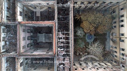 Foto feita com drone da Museu Nacional - antigo Paço de São Cristóvão - após o incêndio que destruiu o acervo com mais de 20 milhões de itens  - Rio de Janeiro - Rio de Janeiro (RJ) - Brasil