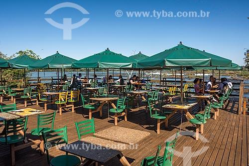 Mesas do restaurante Porto Canoas no Parque Nacional do Iguaçu  - Foz do Iguaçu - Paraná (PR) - Brasil