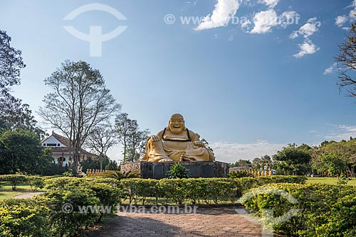Imagem sagrada do Maitreya Bodhisattva (Buda Mi La Pu-san) no Centro Budista Chen Tien  - Foz do Iguaçu - Paraná (PR) - Brasil