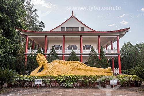 Buda Shakyamuni (ou Siddartha Gautama) no Centro Budista Chen Tien  - Foz do Iguaçu - Paraná (PR) - Brasil