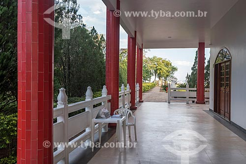 Vista da varanda do Centro Budista Chen Tien  - Foz do Iguaçu - Paraná (PR) - Brasil