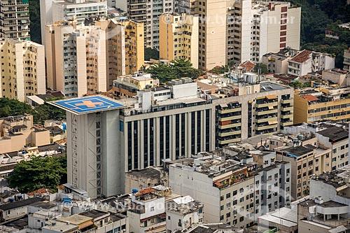 Vista do Hospital Copa DOr a partir do Pico da Agulha do Inhangá no Parque Estadual da Chacrinha  - Rio de Janeiro - Rio de Janeiro (RJ) - Brasil