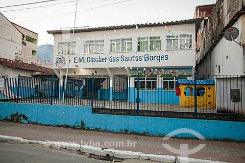 Fachada da Escola Municipal Glauber dos Santos Borges  - Mangaratiba - Rio de Janeiro (RJ) - Brasil