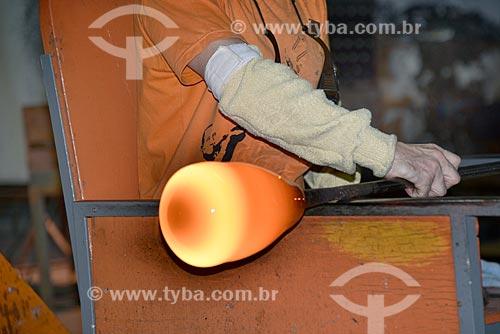 Produção de peça de cristal com a técnica di Murano  - Gramado - Rio Grande do Sul (RS) - Brasil