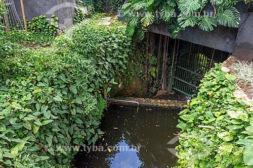 Trecho canalizado do Rio Carioca  - Rio de Janeiro - Rio de Janeiro (RJ) - Brasil
