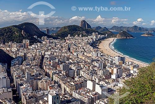 Vista geral do bairro de Copacabana a partir do Morro do Cantagalo  - Rio de Janeiro - Rio de Janeiro (RJ) - Brasil