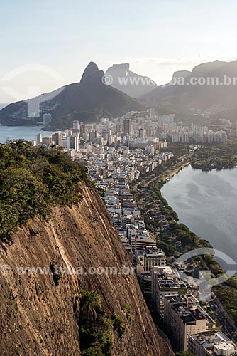 Vista dos bairros de Ipanema e Leblon a partir do Morro do Cantagalo  - Rio de Janeiro - Rio de Janeiro (RJ) - Brasil