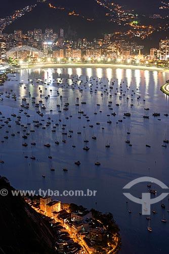 Vista de veleiros ancorados na Enseada de Botafogo a partir do Pão de Açúcar  - Rio de Janeiro - Rio de Janeiro (RJ) - Brasil