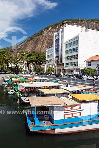 Traineiras atracadas no píer do Quadrado da Urca  - Rio de Janeiro - Rio de Janeiro (RJ) - Brasil