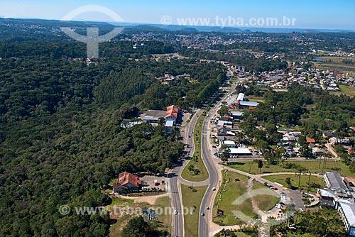 Foto aérea da cidade de Canela  - Canela - Rio Grande do Sul (RS) - Brasil