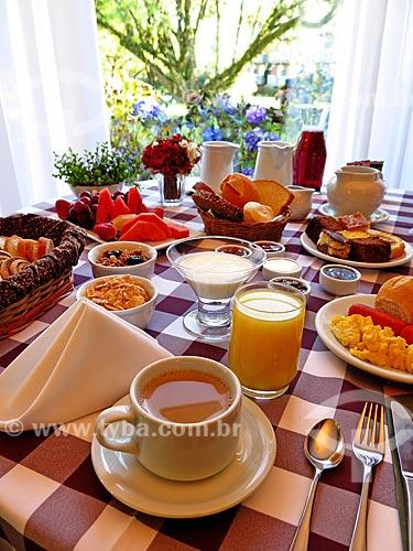 Mesa posta para café da manhã  - Canela - Rio Grande do Sul (RS) - Brasil