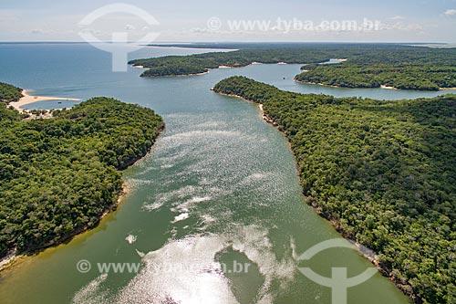 Foto aérea do Rio Arapiuns  - Santarém - Pará (PA) - Brasil
