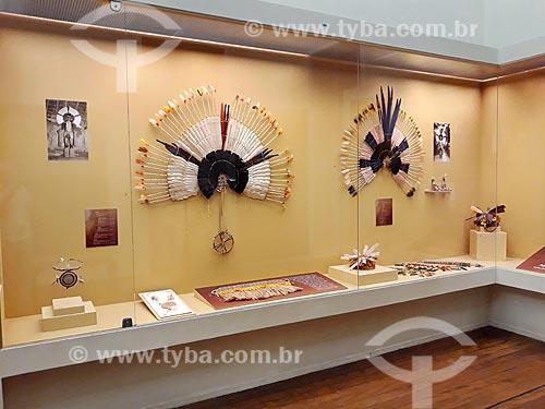 Exposição Os Karajás - plumária e etnografia - em exibição no Museu Nacional - antigo Paço de São Cristóvão  - Rio de Janeiro - Rio de Janeiro (RJ) - Brasil