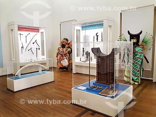 Exposição Kumbukumbu - África, Memória e Patrimônio - em exibição no Museu Nacional - antigo Paço de São Cristóvão  - Rio de Janeiro - Rio de Janeiro (RJ) - Brasil