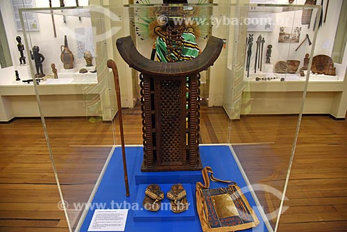 Exposição A diplomacia da amizade, Brasil-Daomé (Benin) em exibição no Museu Nacional - antigo Paço de São Cristóvão  - Rio de Janeiro - Rio de Janeiro (RJ) - Brasil