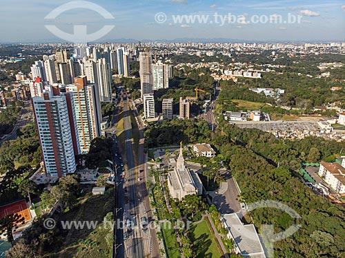 Foto feita com drone da Rua Heitor Alencar Furtado  - Curitiba - Paraná (PR) - Brasil