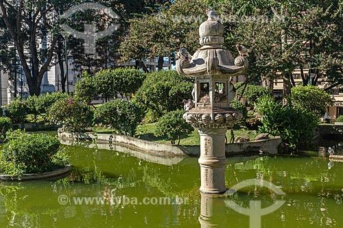 Lagoa na Praça do Japão  - Curitiba - Paraná (PR) - Brasil