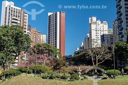 Vista geral da Praça do Japão  - Curitiba - Paraná (PR) - Brasil