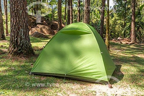 Tenda em área de camping na Área de Proteção Ambiental da Serrinha do Alambari  - Resende - Rio de Janeiro (RJ) - Brasil