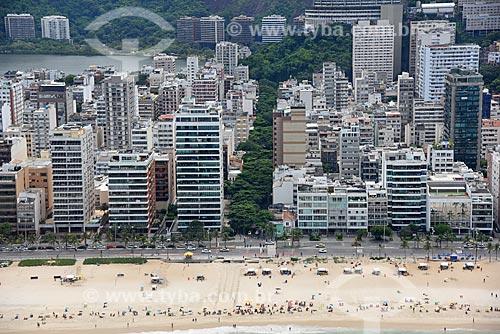 Foto aérea da Praia de Ipanema com a Rua Farme de Amoedo  - Rio de Janeiro - Rio de Janeiro (RJ) - Brasil
