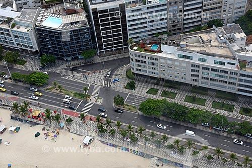 Foto aérea da esquina da Avenida Vieira Souto com a Rua Joaquim Nabuco  - Rio de Janeiro - Rio de Janeiro (RJ) - Brasil