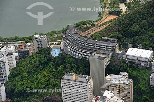 Foto aérea de unidade da Fundação de Apoio à Escola Técnica (FAETEC) no Morro do Cantagalo  - Rio de Janeiro - Rio de Janeiro (RJ) - Brasil