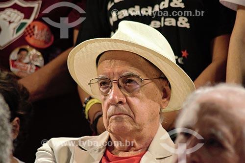 Emir Sader durante comício da campanha de Fernando Haddad à presidência pelo Partido dos Trabalhadores (PT) na Cinelândia  - Rio de Janeiro - Rio de Janeiro (RJ) - Brasil