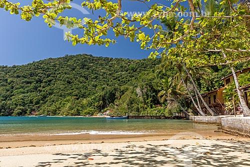 Trecho de praia na orla da Baía de Ilha Grande  - Angra dos Reis - Rio de Janeiro (RJ) - Brasil