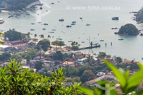 Vista geral da Vila e Porto da Vila do Abraão  - Angra dos Reis - Rio de Janeiro (RJ) - Brasil