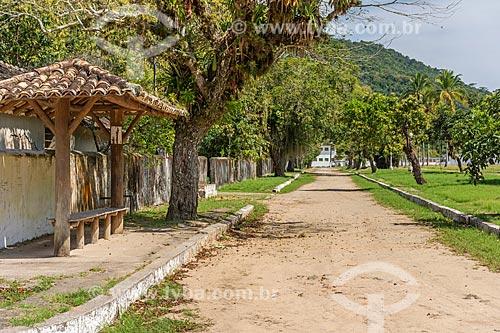 Ponto de ônibus em estrada de Terra na Vila de Dois Rios  - Angra dos Reis - Rio de Janeiro (RJ) - Brasil