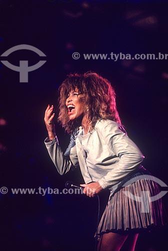 Detalhe da cantora Tina Turner durante show no Estádio Jornalista Mário Filho - mais conhecido como Maracanã  - Rio de Janeiro - Rio de Janeiro (RJ) - Brasil