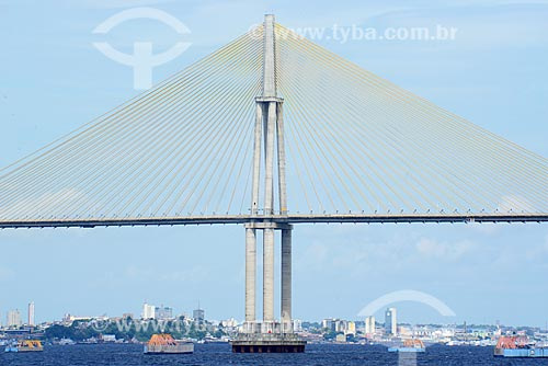 Detalhe da Ponte Jornalista Phelippe Daou (2011) - também conhecida como Ponte Rio Negro  - Manaus - Amazonas (AM) - Brasil