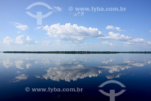 Vista do trecho do Rio Negro  - Amazonas (AM) - Brasil