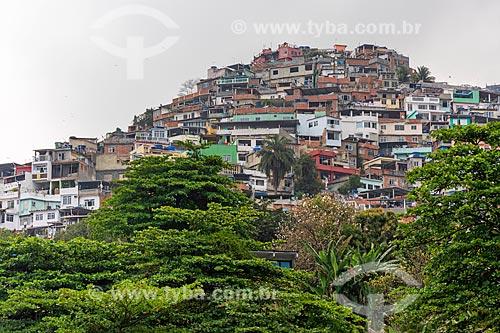 Vista da favela do Vidigal  - Rio de Janeiro - Rio de Janeiro (RJ) - Brasil