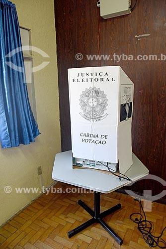 Detalhe de cabina de votação  - Rio de Janeiro - Rio de Janeiro (RJ) - Brasil