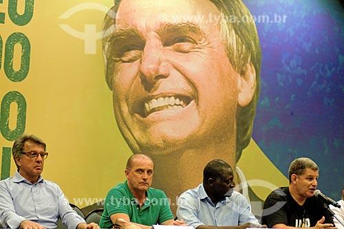 Coletiva de imprensa com a direção de campanha de Jair Bolsonaro - candidato à presidência pelo Partido Social Liberal (PSL) - após o 1° Turno das Eleições no Hotel Windsor  - Rio de Janeiro - Rio de Janeiro (RJ) - Brasil