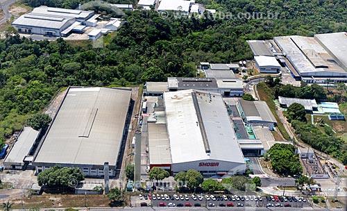 Foto aérea da fábrica da Showa do Brasil no Polo Industrial de Manaus  - Manaus - Amazonas (AM) - Brasil