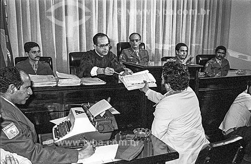 Depoimento de Luiz Inácio Lula da Silva na Justiça Militar  - São Paulo - São Paulo (SP) - Brasil