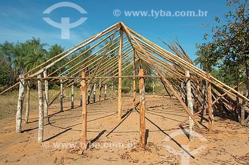 Estrutura de oca na aldeia Aiha da tribo Kalapalo - ACRÉSCIMO DE 100% SOBRE O VALOR DE TABELA  - Querência - Mato Grosso (MT) - Brasil