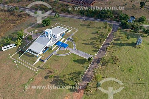 Foto feita com drone do Centro Regional de Ciências Nucleares do Centro-Oeste (CRCN-CO) da Comissão Nacional de Energia Nuclear (CNEN) - onde está o césio-137 que provocou o acidente em Goiânia  - Abadia de Goiás - Goiás (GO) - Brasil
