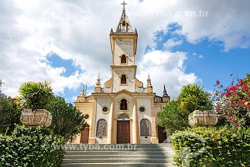 Fachada da Paróquia de Nossa Senhora de Lourdes (1892) - também conhecida como Igreja da Gruta  - Guaramiranga - Ceará (CE) - Brasil
