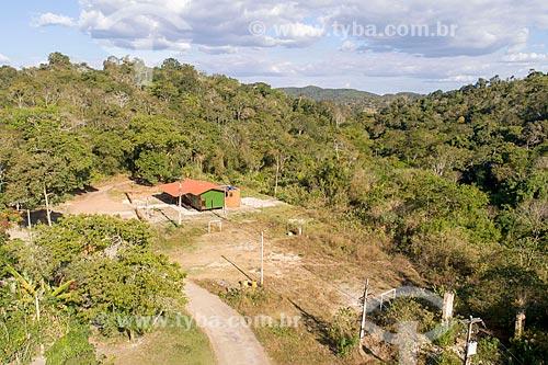 Foto feita com drone da sede do Sítio Lagoa Santa na Área de Proteção Ambiental da Serra de Baturité  - Guaramiranga - Ceará (CE) - Brasil