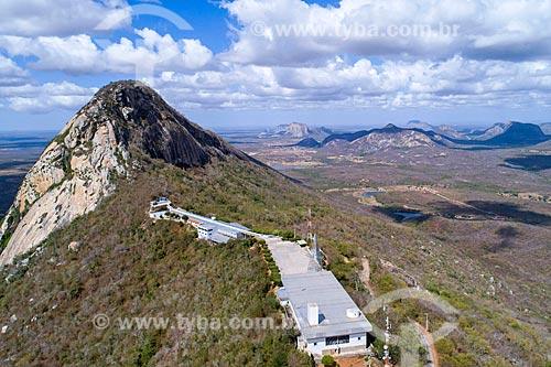 Foto feita com drone do Santuário de Nossa Senhora Imaculada Rainha do Sertão (1995)  - Quixadá - Ceará (CE) - Brasil