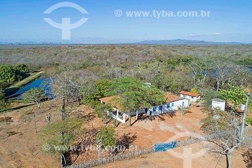 Foto feita com drone da Fazenda Não me Deixes - que pertenceu a Rachel de Queiroz  - Quixadá - Ceará (CE) - Brasil