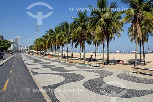 Ciclovia na orla da Praia de Copacabana - Posto 3  - Rio de Janeiro - Rio de Janeiro (RJ) - Brasil