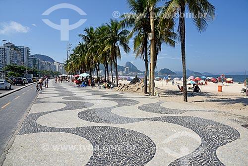 Ciclovia na orla da Praia de Copacabana - Posto 5  - Rio de Janeiro - Rio de Janeiro (RJ) - Brasil
