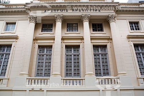 Fachada da Academia Brasileira de Letras (ABL) - 1922 - prédio construído para abrigar o Pavilhão da França durante a Exposição Internacional Comemorativa do Centenário da Independência do Brasil  - Rio de Janeiro - Rio de Janeiro (RJ) - Brasil