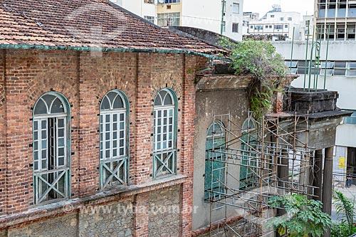 Canteiro de obras para a reforma da Igreja Positivista do Brasil (1897) - também conhecido como Templo da Humanidade  - Rio de Janeiro - Rio de Janeiro (RJ) - Brasil
